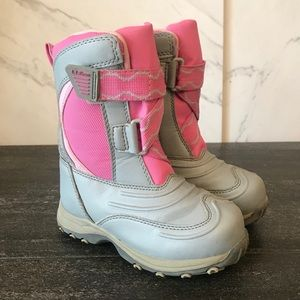 L.L. Bean Snow Thread Boots Pink Grey